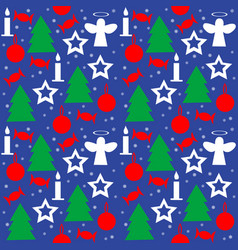 wrapping paper seamless pattern for christmas vector image vector image