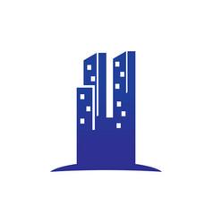 abstract skyscrapercity building logo vector image