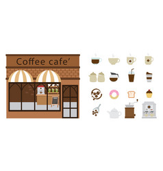 coffee restaurant and coffee icon vector image vector image