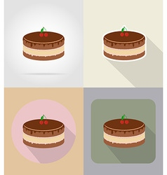 food objects flat icons 09 vector image