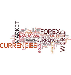 Forex market history be a part of it text vector