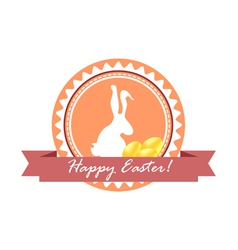 Happy Easter Logo vector image