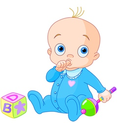 Sweet baby boy vector image