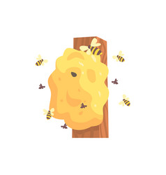 beehive hornets or wasp nest cartoon vector image vector image