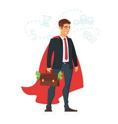 businessman in red cloak vector image vector image