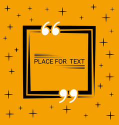 box concept of dialogue in the blank speech quote vector image