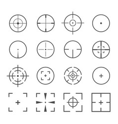 crosshairs icon set vector image