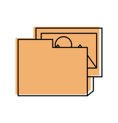 folder document with picture vector image vector image
