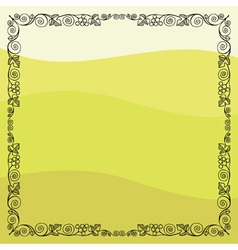 Grape vine frame vector image vector image
