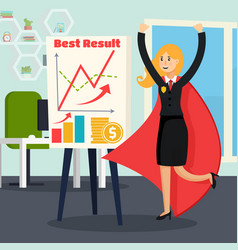 office superhero orthogonal composition vector image vector image