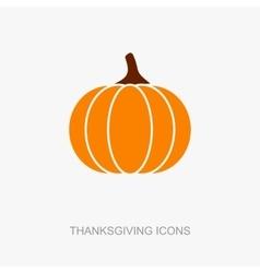 Pumpkin icon Harvest Thanksgiving vector image vector image