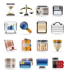 realistic business and office vector image vector image