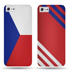 Rear covers smartphone with flags of Czech Republi vector image vector image