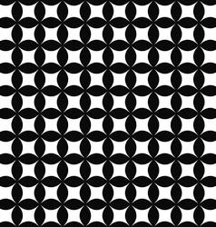 Seamless monochrome shape pattern vector image vector image