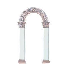stylized greek doodle arch ionic corinthian vector image vector image