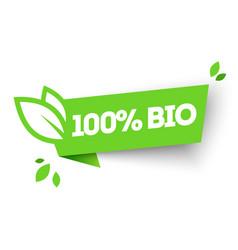 100 organic bio product label vector