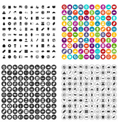 100 sandwich icons set variant vector