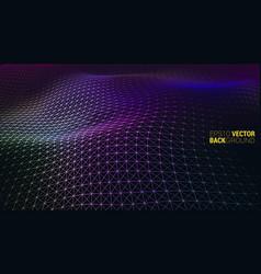 abstract futuristic digital landscape vector image