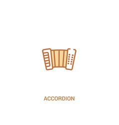 Accordion concept 2 colored icon simple line vector