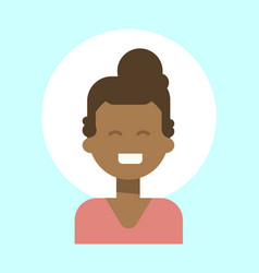 african american female emotion profile icon vector image