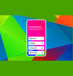 App or game interface design with smart device or vector