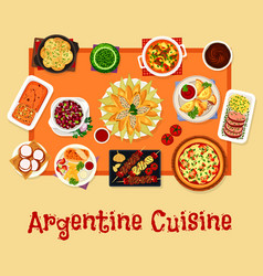 Argentinian cuisine lunch icon food design vector