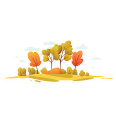 autumn nature landscape with trees beautiful vector image