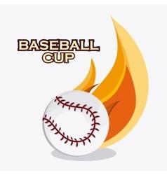 Baseball design sport concept Flat vector