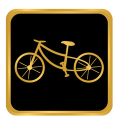 bike button on white vector image