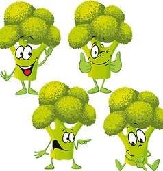 broccoli - funny cartoon vector image