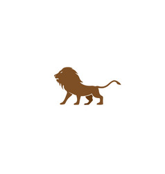 brown lion open mouth and roaring logo vector image