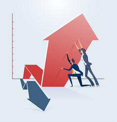 Business growth and success concept change of a vector