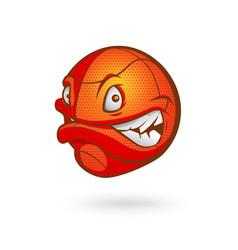 cartoon basketball ball on vector image