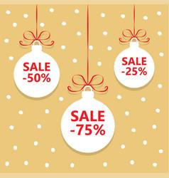christmas balls sale vector image