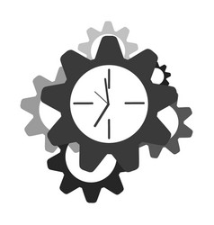 clock gear icon business design set vector image