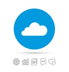 cloud sign icon data storage symbol vector image