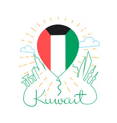 Concept travel to kuwait vector