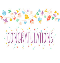 Congratulations card vector