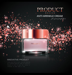 cosmetics product ads vector image