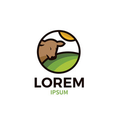 cow farms logo vector image