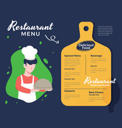 creative menu design vector image