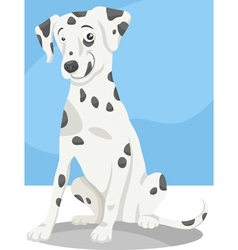 dalmatian dog cartoon vector image