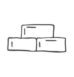 doodle building blocks scribble vector image