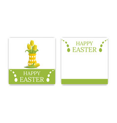 easter party invitations and greeting cards vector image