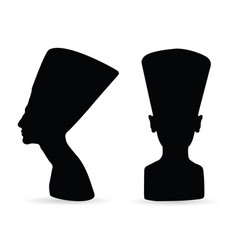 egyptian queen nefertiti silhouette vector image