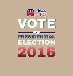 Elephant versus Donkey Vote 2016 vector image