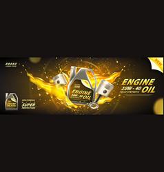 engine oil advertisement banner vector image