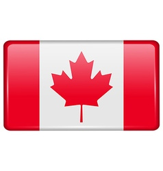 Flags Canada in the form of a magnet on vector image