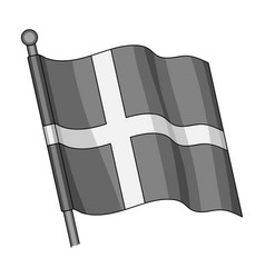 flagsingle icon in monochrome styleflag vector image