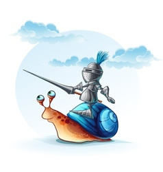Funny knight on cochlea vector